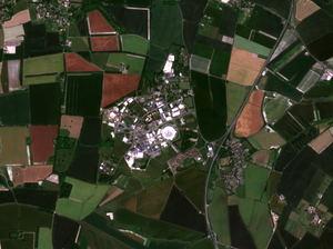 Sentinel satellite image of CEDA's home - STFC's Rutherford Appleton Laboratory